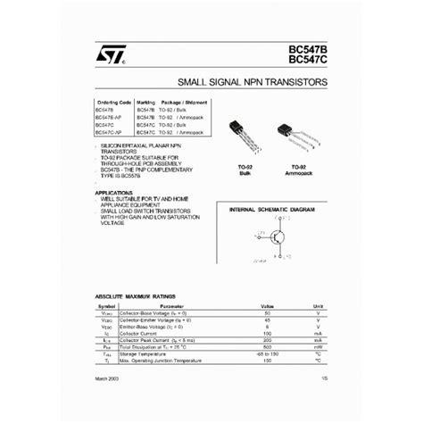 transistor npn bc547 caracteristicas transistor bc547b caracteristicas 28 images caracteristicas tecnicas de bc548 datasheet