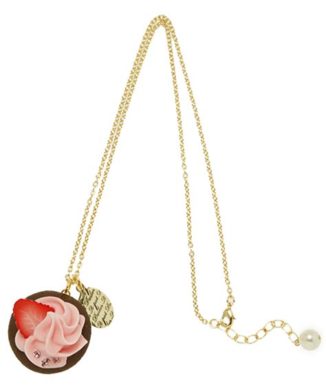 Small Fresh Wallet Pink Intl berry cupcake necklace q pot international shop