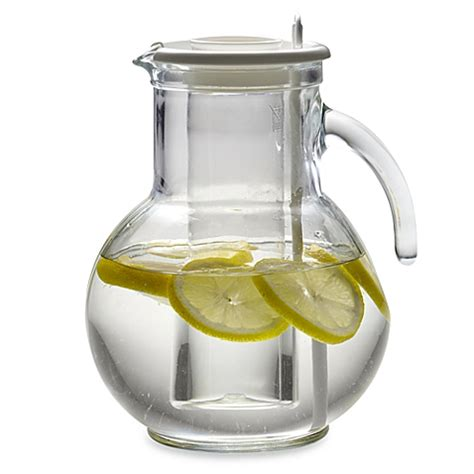 bed bath and beyond pitcher bormioli rocco kufra 2 liter pitcher with lid www