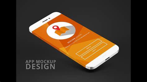 design app tutorial how to design app mockup in photoshop cc app mokcup