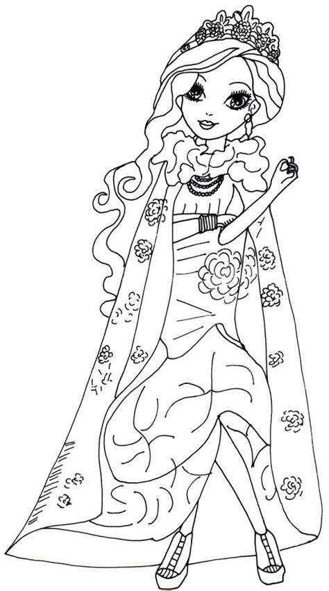 ever after monster high coloring pages free online printable ever after high coloring sheets