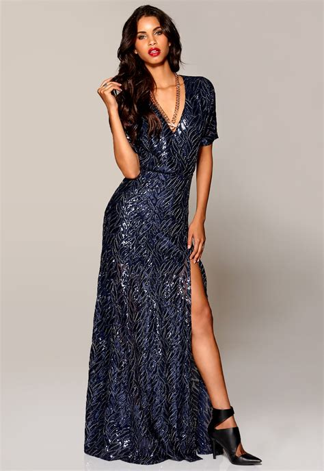 Eugene Dress make way eugene maxi dress midnight blue patterned bubbleroom