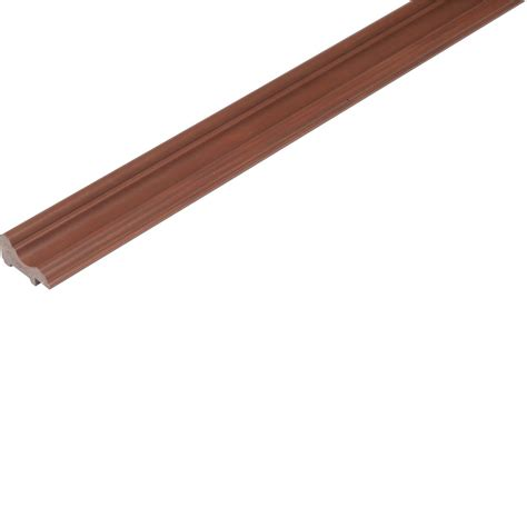 Cap Trim For Wainscoting Pvc Wainscoting Trim Set By Plastibec Redwood Finish