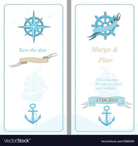 nautical themed wedding invitation template wedding invitation template nautical style vector image