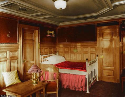 titanic 1st class bedrooms titanic in colour photographer colours black and white