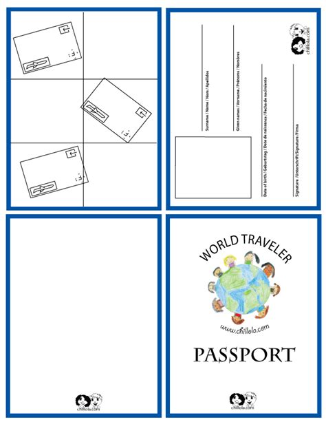 Passport Template Passport For Kids Passport Www Chillola Com English Worksheets For Editable Passport Template