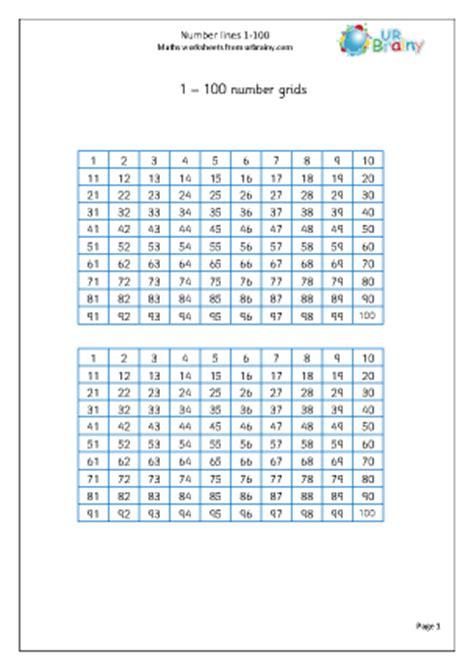 Number Grid 1 100 Number Lines Etc Maths Worksheets For