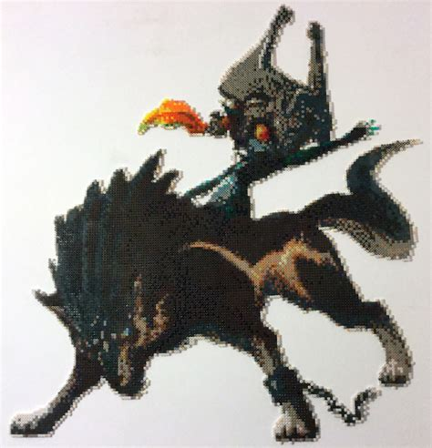 perler bead wolf wolf link and midna bead by detailonly on deviantart