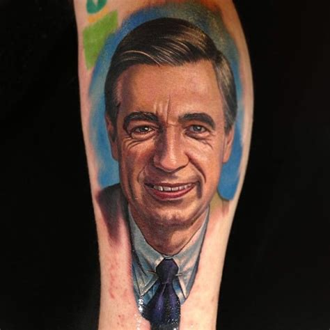 mr rogers tattoo by nikko hurtado sick tattoos pinterest