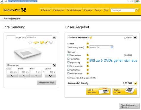 Bewerbung Deutschland Nach Osterreich Versicherter Versand Einer Dvd Deutschland Nac Ebay Community