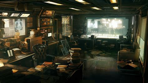 Revolution Room by Deus Ex Human Revolution Artwork Room Wallpaper