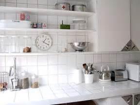 Interior present day designs for kitchens and white ceramic tile