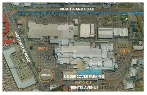layout of east rand mall park and ride east rand mall