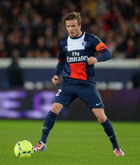 David Beckham Injures Knee In Soccer Match by Psg Celebrate Title Pics My Beats Football