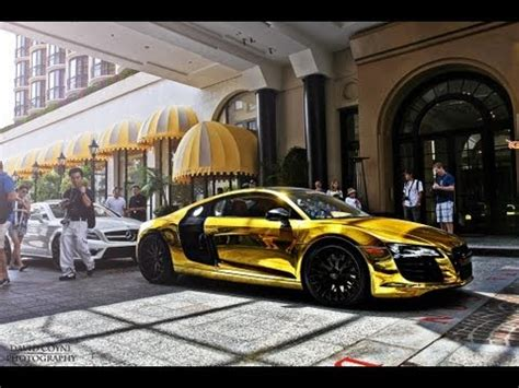 pure gold audi r8 beverly hills! youtube