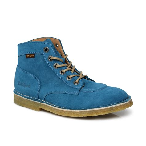 Kickers Shoes 7 kickers blue kick legend suede mens boots size 7 11 ebay