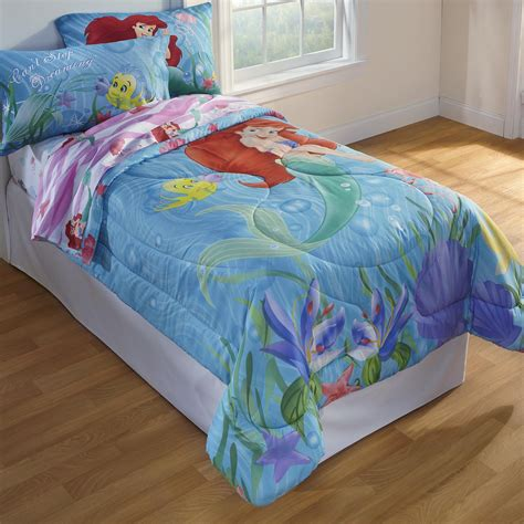 kmart comforters twin disney girl s little mermaid twin comforter home bed
