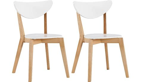 white and oak dining chairs george home pair of dining chairs oak and white