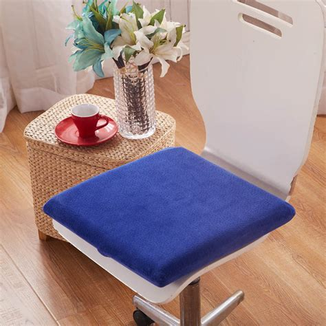velvet dining room chair cushions velvet memory foam cushion 40x40cm simply solid color home