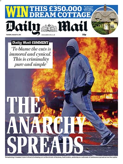 Daily Mail Uk Front Page For 28 October 2017 Paperboy uk riots front pages in pictures media the guardian