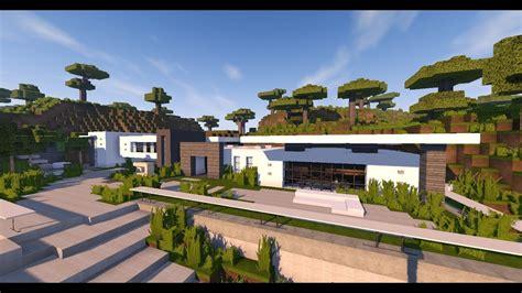 maison montagne minecraft une maison moderne sur une montagne dans minecraft