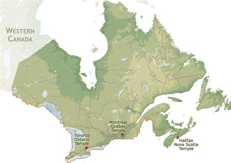 maps of eastern canada lds mormon temples geographical region eastern canada