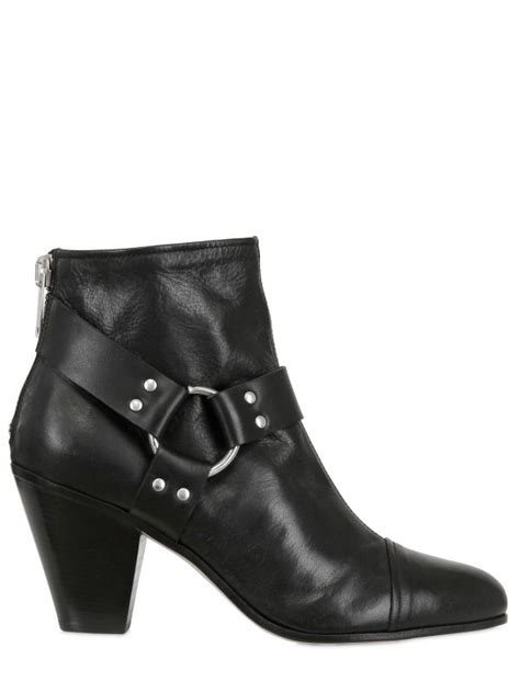 gareth pugh mens boots gareth pugh 90mm back zip leather low boots in black for