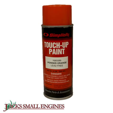 simplicity 1685589sm 12oz orange powder paint jacks small engines