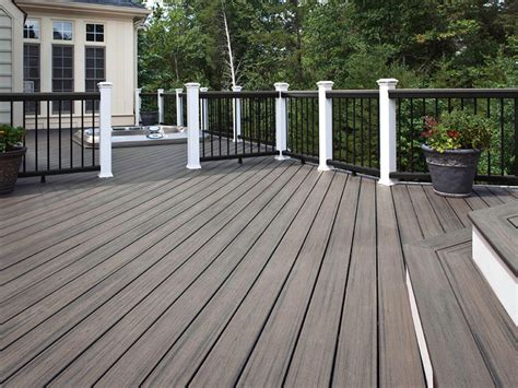 grey deck with white and black trim my home is my castle