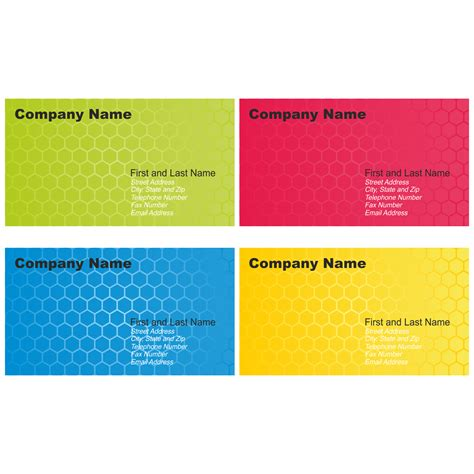 business card design template free vector for free use set of business card designs