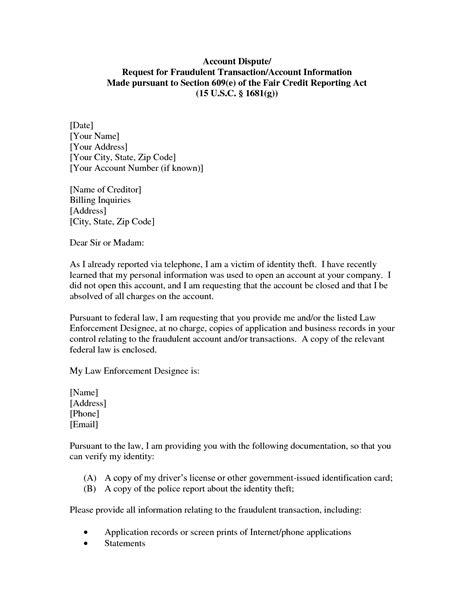 609 Dispute Letter To Credit Bureau Template Gallery Dispute Letter To Credit Bureau Template