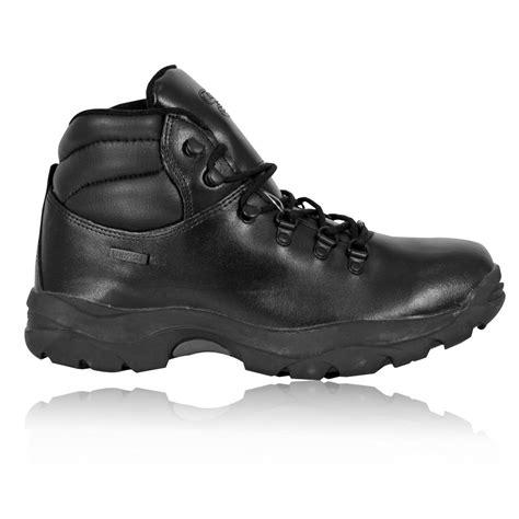 mens hi tec walking boots hi tec eurotreck wp mens black waterproof outdoors walking