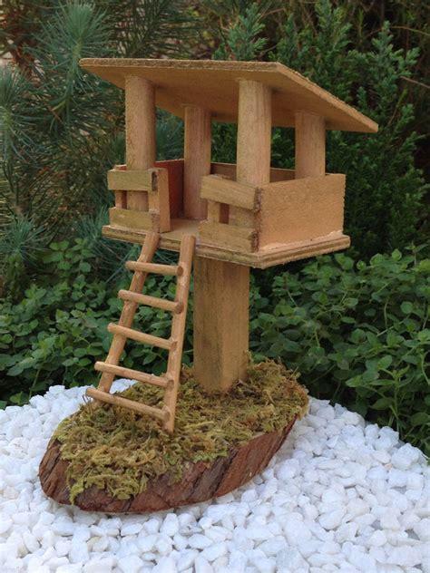 miniature dollhouse fairy garden furniture wood tree