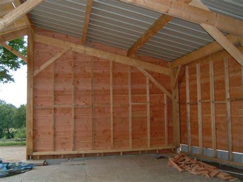 garage ossature bois en kit plan garage ossature bois toit plat 7 bardage et