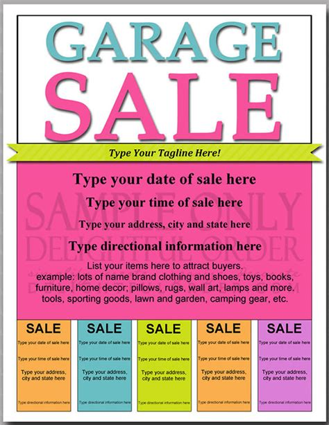 Garage Sale Flyer Template Word by Flyers For Free Printable Yard Sale Flyers Www Gooflyers