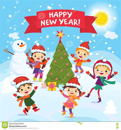 new year children s songs happy new year 2017 winter cheerful in