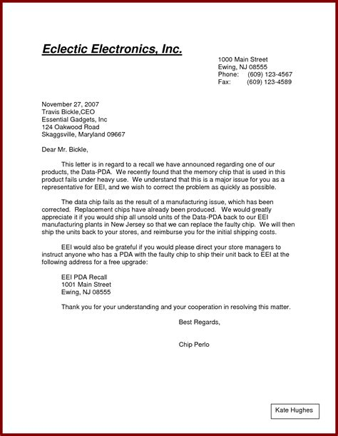 Formal Business Letter Template Pdf Formal Letter Exle Pdf Formal Letter Template