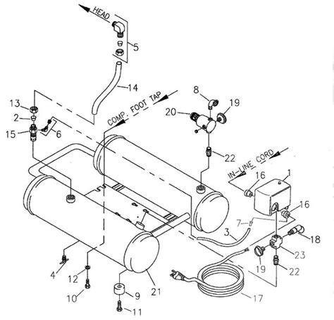 bostitch cwh100wt cwh200wt air compressor parts