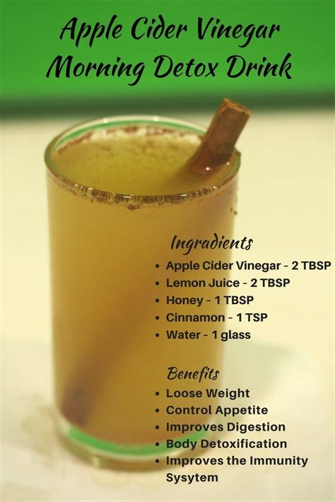 Does The Apple Lemon Detox Work by Apple Cider Vinegar Morning Detox Drink For Weight Loss