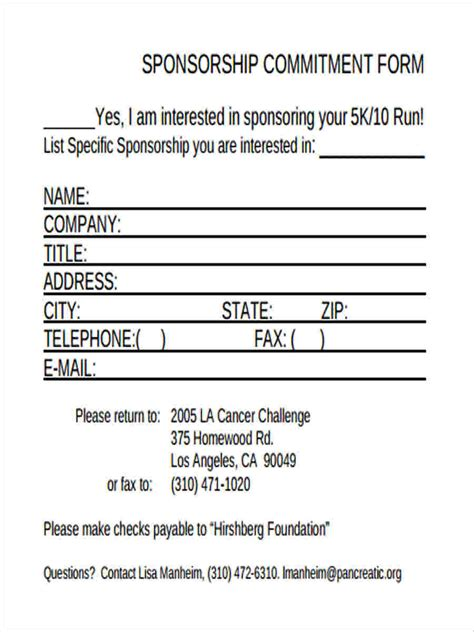Commitment Letter For State Sponsorship Commitment Form Template 28 Images Doc 585600 Mortgage