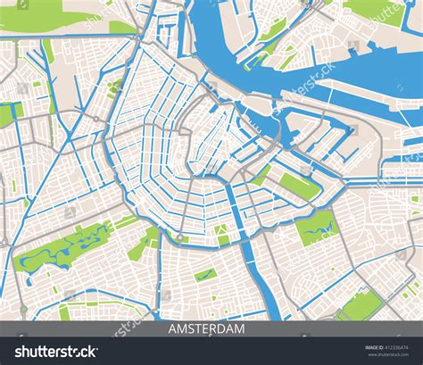 netherlands capital map vector color map amsterdam capital netherlands stock