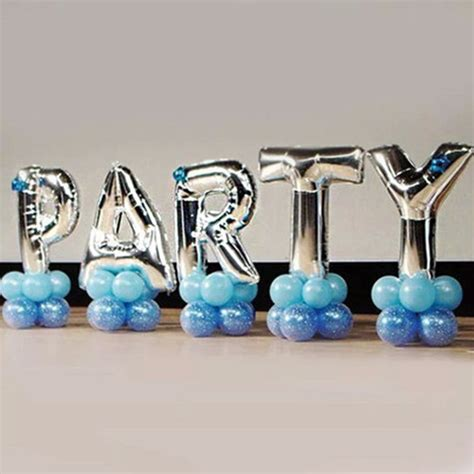 40 inches silver letter foil balloons birthday