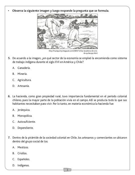 preguntas y respuestas historia de chile prueba historia la colonia en chile y america 5to basico