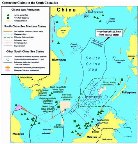 South China Sea Dispute Map by Spratly Islands