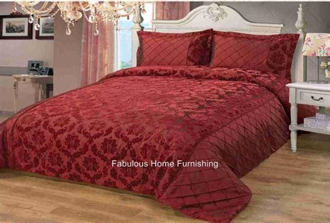 Burgundy Bedspread Damask Luxury Bedspread Brown Black Burgundy Ebay