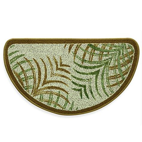 Green Kitchen Rugs Buy Bacova Mirage 18 Inch X 31 5 Inch Berber Kitchen Rug In Green Brown From Bed Bath Beyond