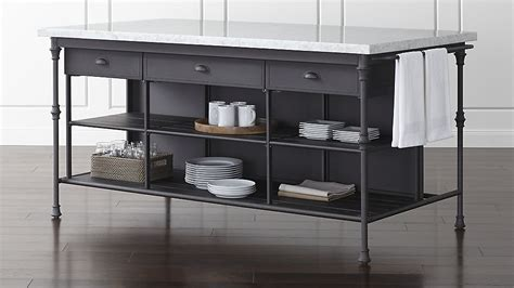 kitchen 72 quot large kitchen island crate and barrel