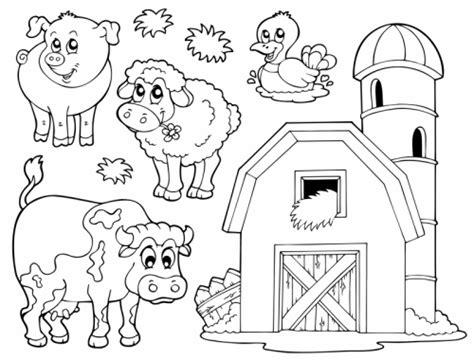 animals in the barnyard coloring page barn house kostenlose malvorlage tiere verschiedene tiere auf dem