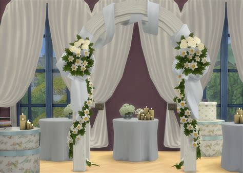Wedding Arch In Sims 3 by My Sims 4 Wedding Arches Wine Bottles Beds And