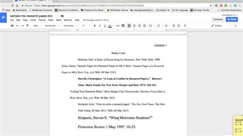 formatting  research paper  google docs youtube